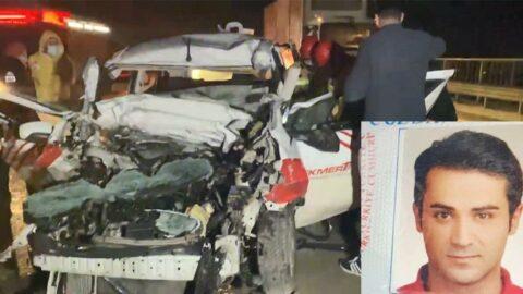 Kayganlaşan yolda feci kaza: 1 ölü 2 ağır yaralı