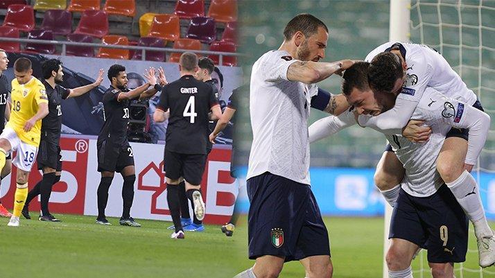 Dünya Kupası Elemeleri'nde gecenin sonuçları   İtalya rekor kırdı, Almanya bir adım yaklaştı