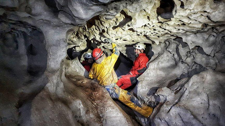İnsuyu Mağarası'nın gizli galerileri keşfediliyor