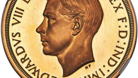 8'inci Edward adına basılan altın para rekor fiyata satıldı