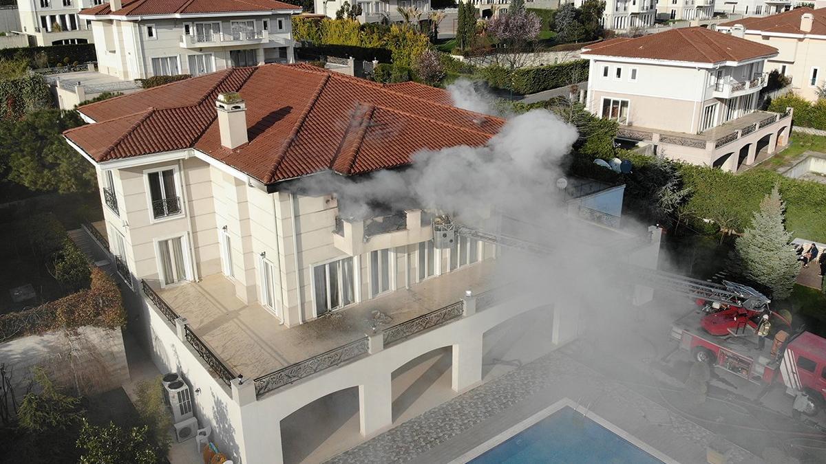 Mısırlı bir işadamının villasında yangın