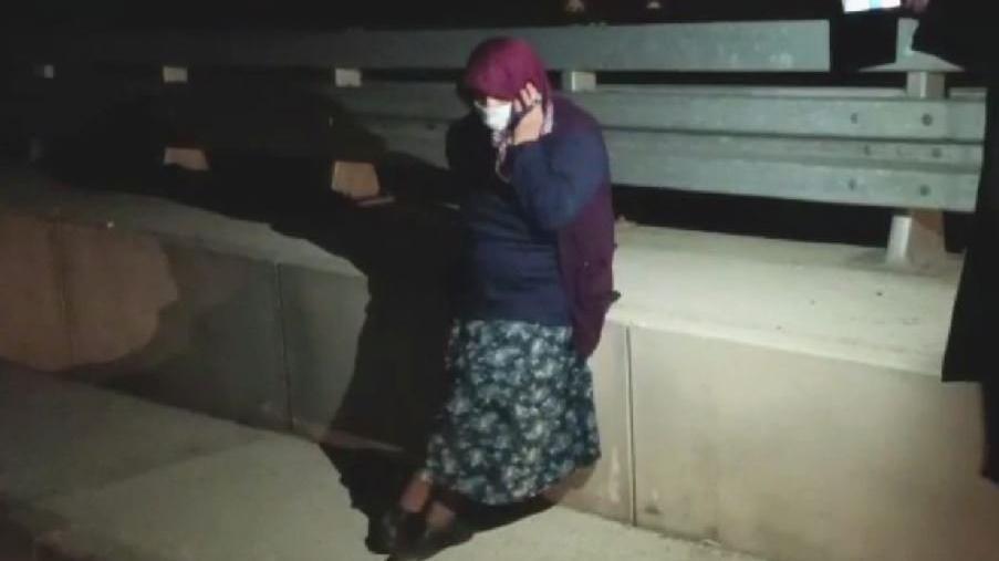 Coronalı kadın, kaçırıldığını sanınca zor anlar yaşattı