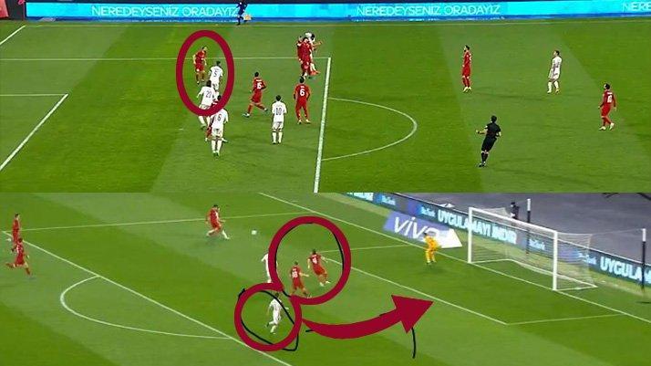 Türkiye Letonya maçına damga vuran an! Caner Erkin gündem oldu...