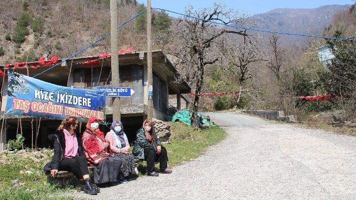 Köylülerden 'taş ocağı' nöbeti