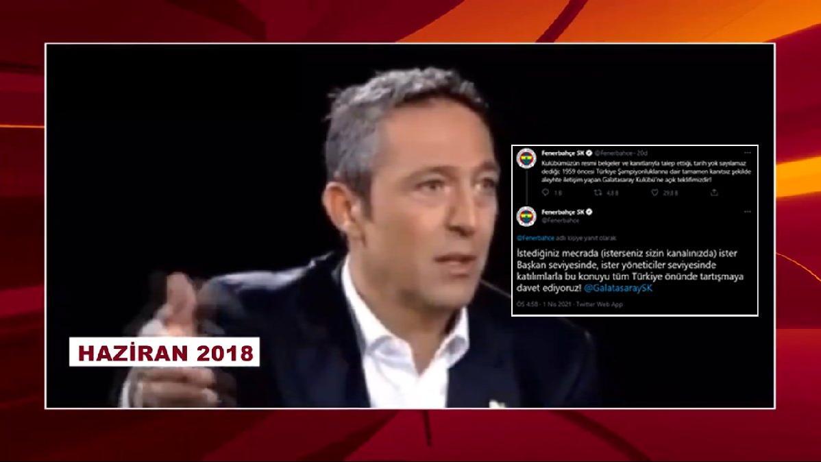 Fenerbahçe tartışmaya davet etti, Galatasaray Ali Koç videosu paylaştı!