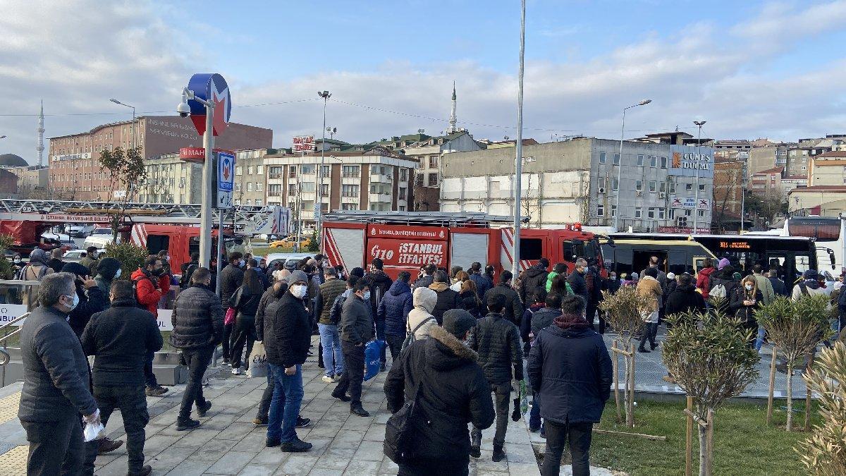 Metro hattında yangın, seferler durdu