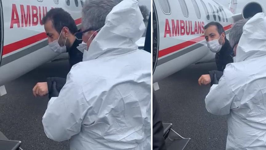Türk corona hastası Londra'dan ambulans uçakla Türkiye'ye getirildi