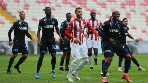 Sivasspor ve Trabzonspor 1 puana razı oldu!