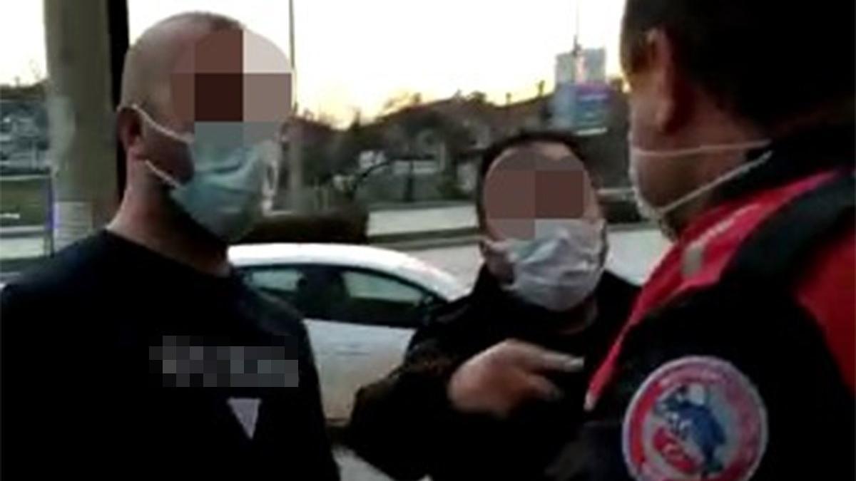 Tartıştığı polisi 'sizi Suriye'ye gönderirim' diyerek tehdit etti