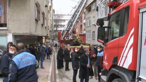 İstanbul'da yangın paniği; mahsur kalan 7 kişi kurtarıldı
