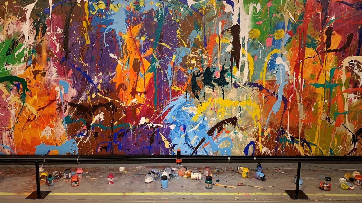 Yanlışlıkla 500 bin dolarlık sanat eserini boyadılar