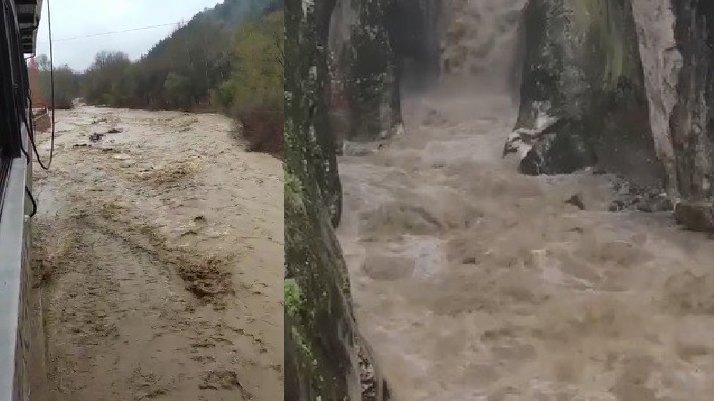Uludağ'dan gelen dereler taştı...Bursa'da sel alarmı