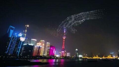 Çin'de 3 bin 51 drone ile yapılan şov Guinness Rekorlar Kitabı'na girdi