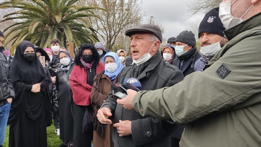 İBB önünde kentsel dönüşüm protestosu