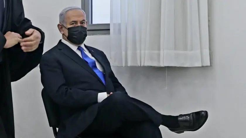 Netanyahu'dan yolsuzluk davasında tepki çeken kare