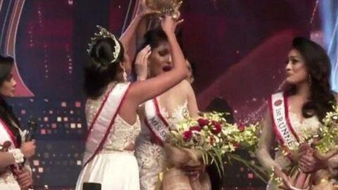 Güzellik yarışmasında 'taç' skandalı