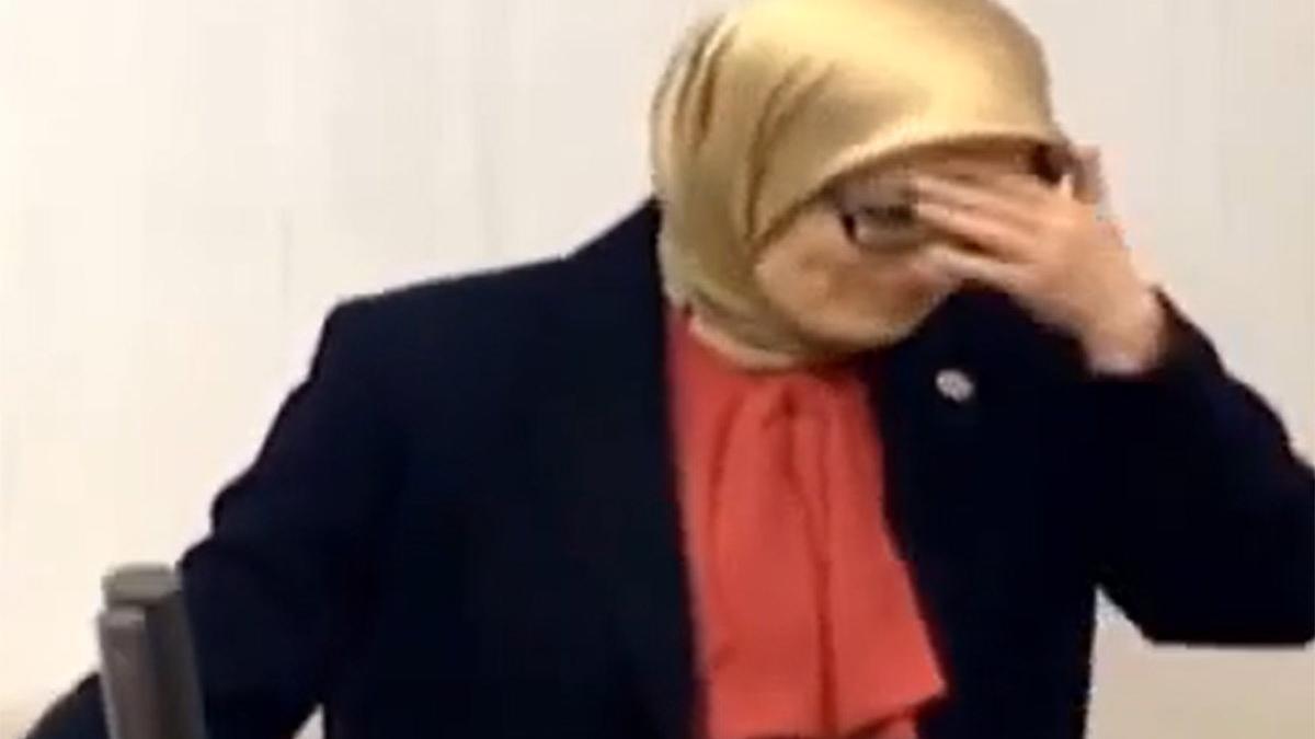AKP'li Belgin Uygur kürsüde fenalaştı, oturuma ara verildi