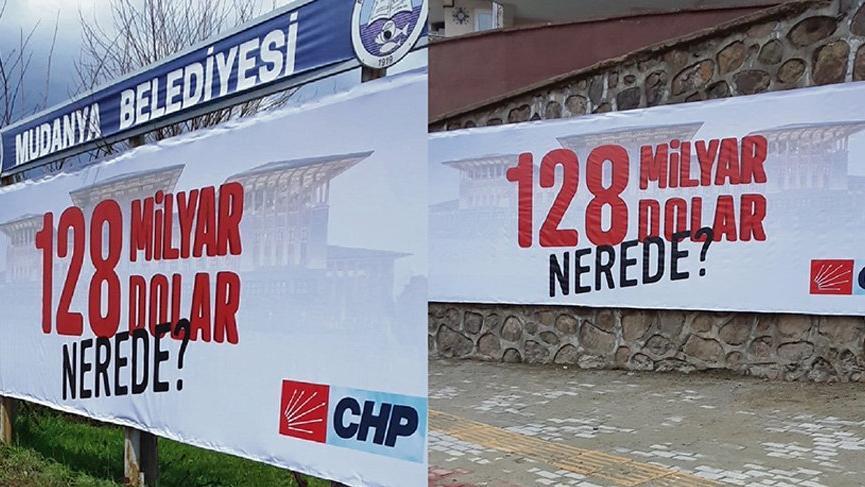 CHP'nin billboardlara astığı '128 milyar dolar nerede' afişleri söküldü