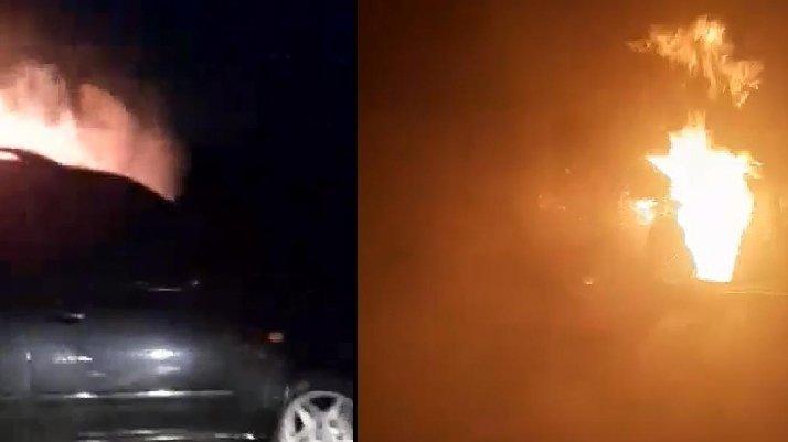 Kız kardeşini taciz ettiği iddiasıyla komşusunun cipini yaktı