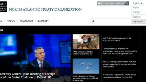 NATO'dan sürpriz hamle: Siteye Ukraynaca dil seçeneği eklendi