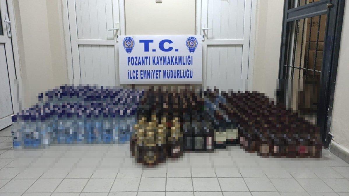 615 şişe sahte içki ele geçirildi