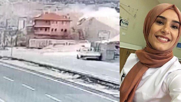 Seycan hemşirenin kaza anı görüntüleri ortaya çıktı