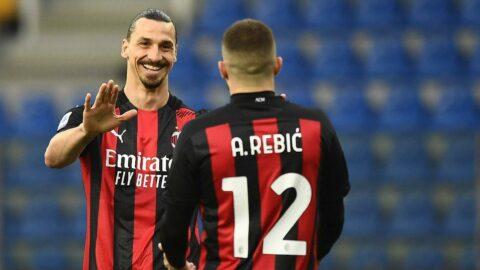 Milan 3 atıp kazandı, Ibrahimovic kırmızı kart gördü