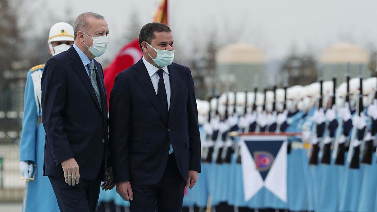 Cumhurbaşkanı Erdoğan, Libya Başbakanı Dibeybe ile bir araya geldi