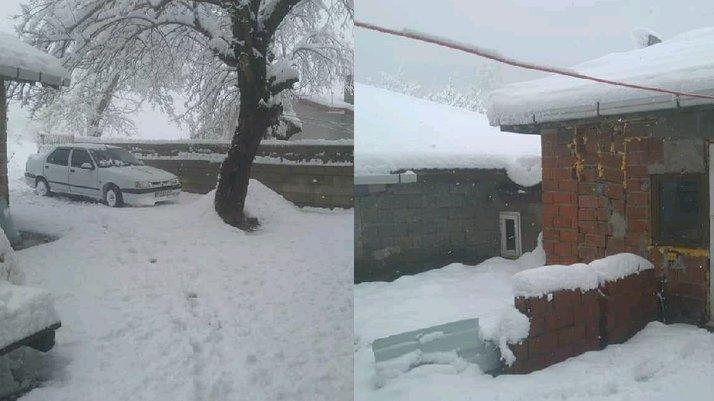 Nisan ayında 30 santimetre kar yağdı