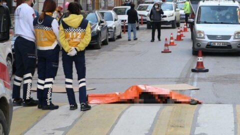 Korkunç kaza: Lastik ile çamurluk arasında 160 metre sürüklendi