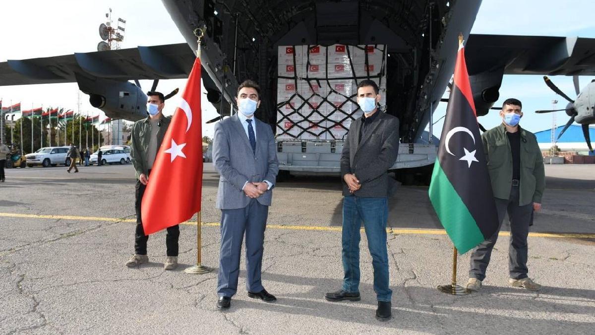 150 bin doz corona aşısı Libya'ya teslim edildi