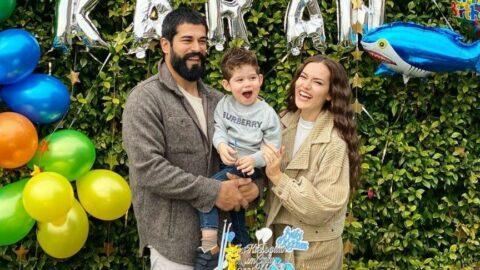 Fahriye Evcen ile Burak Özçivit oğulları Karan'ın doğum gününü kutladı
