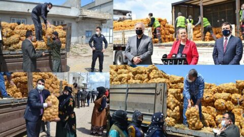 Patates dağıtımı şova dönüştürüldü, sosyal medyada tepki yağdı