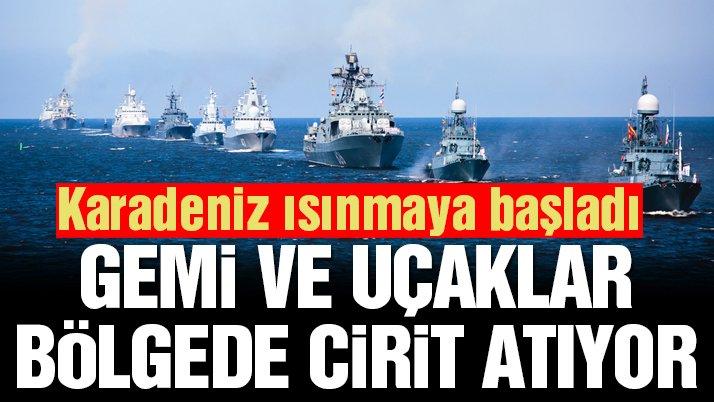 ABD gemilerinden önce Rusya'dan Karadeniz'de tatbikat