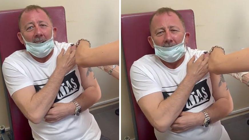 Beşiktaş Teknik Direktörü Sergen Yalçın aşı oldu: 'Aah! Bu neymiş ya böyle'