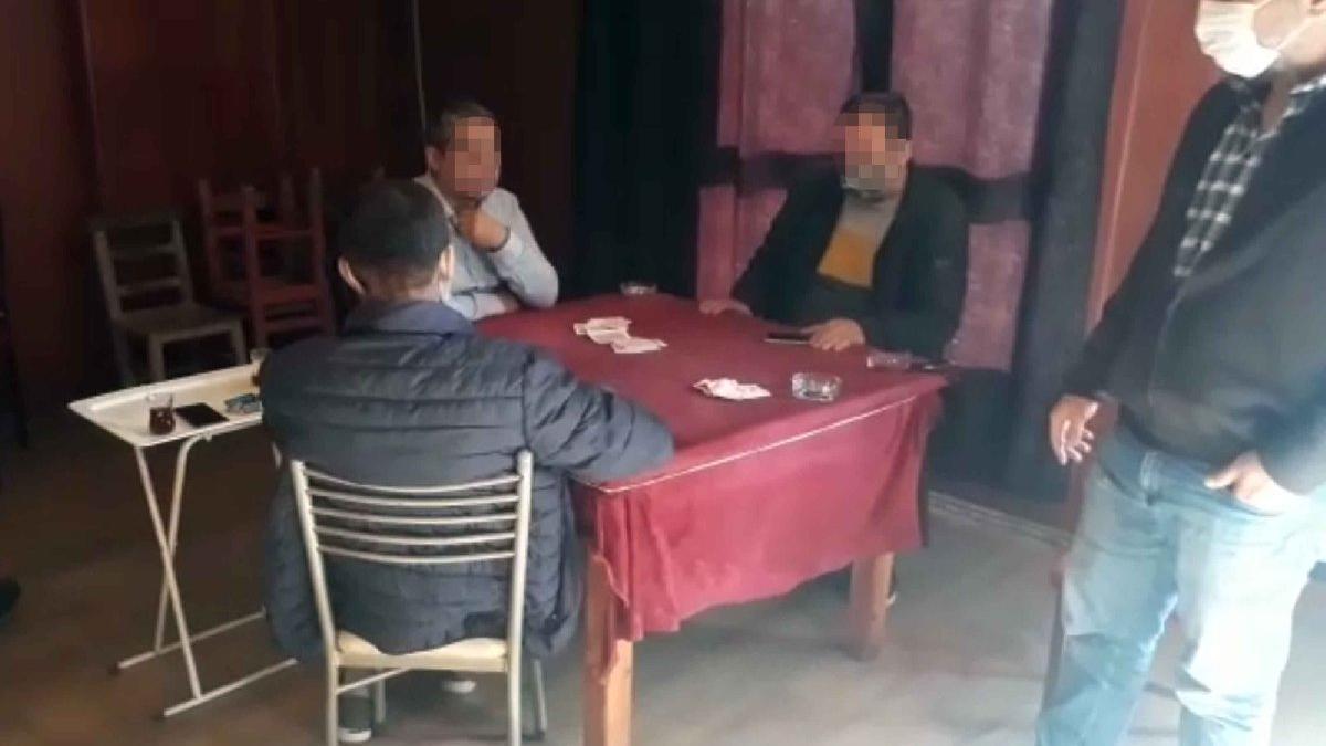 Coronaya rağmen ofiste kumara 25 bin lira ceza