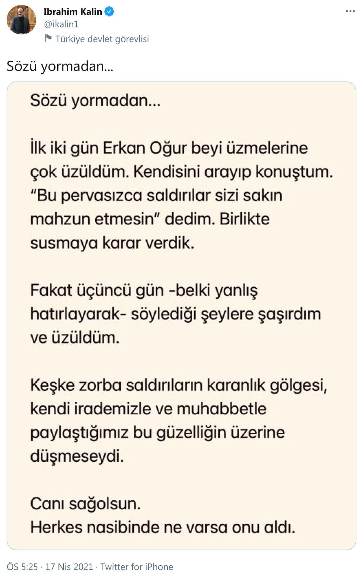 İbrahim Kalın'dan Erkan Oğur açıklaması - Kültür-Sanat haberleri