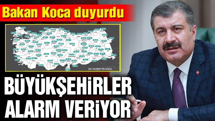 Sağlık Bakanı Fahrettin Koca il il haftalık vaka sayısını açıkladı! İstanbul'da korkutan artış