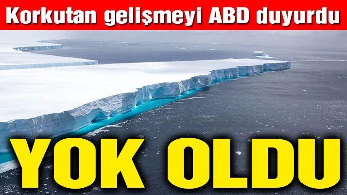 Korkutan gelişme! Dünyanın en büyük buzulu A68 eriyerek yok oldu