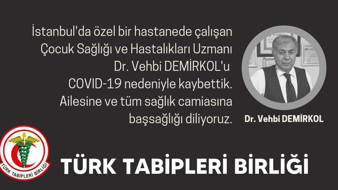 İstanbul'da çocuk doktoru coronadan hayatını kaybetti