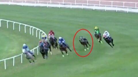 Adana'daki at yarışında jokey Samet Erkuş kaza geçirdi