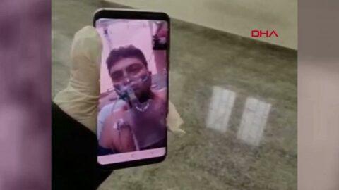 Anonsla tedbir uyarısı yaptığı coronadan hayatını kaybeden polisin son görüntüleri ortaya çıktı