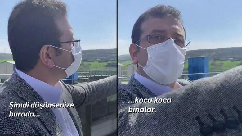 Ekrem İmamoğlu, Kanal İstanbul arazisinden seslendi: Vatandaşımız beton kanalı engelleyecek