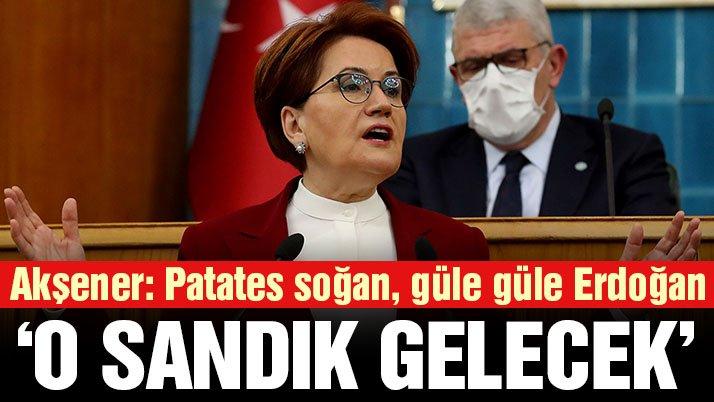 Meral Akşener: Patates, soğan güle güle Erdoğan