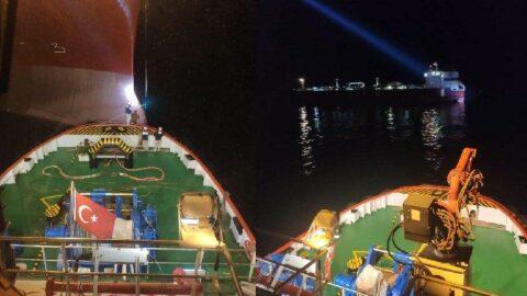 Marmara Denizi'nde tanker arızası