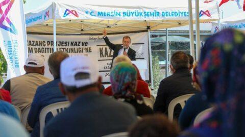 Mersin'de üreticiye 10 bin kaz ve 50 ton yem desteği