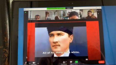 ABD'de uzaktan öğretim dersinin konusu 23 Nisan ve Atatürk oldu