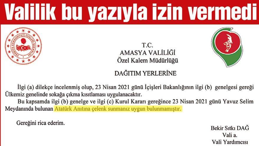 Atatürk Anıtı'na çelenk konulması yasaklandı!