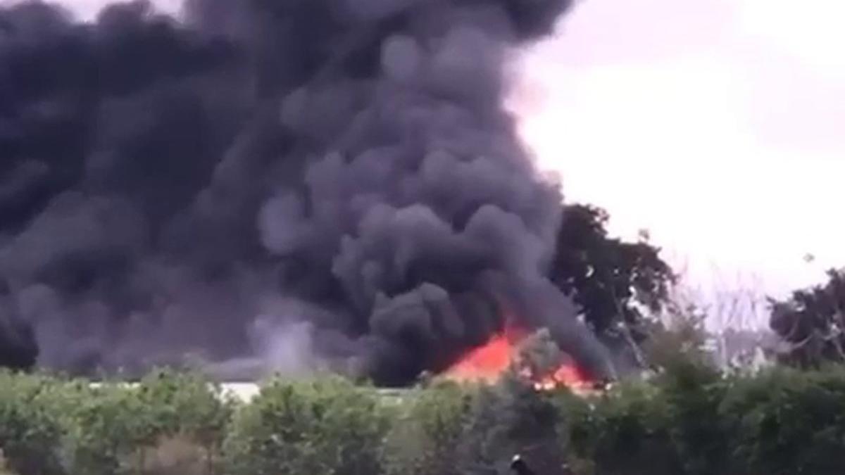 Çekirge üretim merkezinde yangın