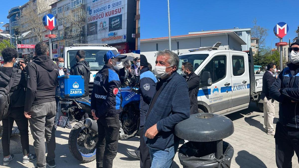 AKP'li belediyeden Halk Ekmek büfesine kamyonetli engel